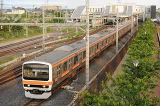 吉川美南を通過するEF65-2119牽引77レほか