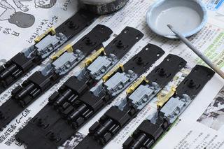 KATO14系エンジンを塗装
