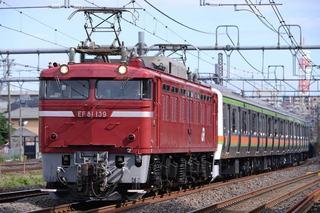 EF81-139、八高・川越線209系配給