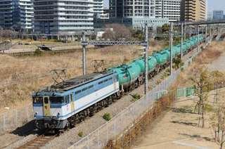 高島線を行くEF65-2127