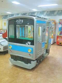国鉄・JR205系を模した遊具
